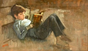 john-kennedy-jr-reading